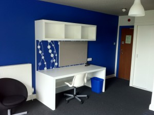Refurbed room with eTRV+ installed - energy saving heating at university.