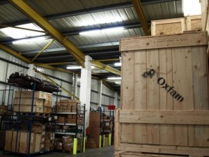 Oxfam Warehouse Low Maintenance Lighting