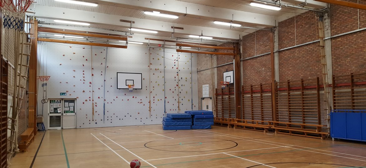 LED lighting retrofit sports hall